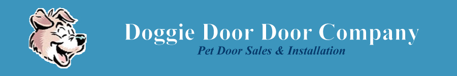 Doggie Door Door Company banner and logo
